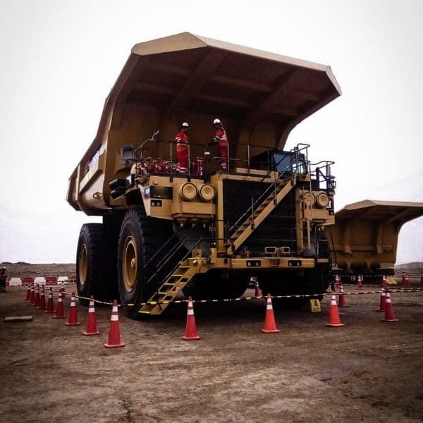 Afex fire suppression system installed on heavy mining equipment