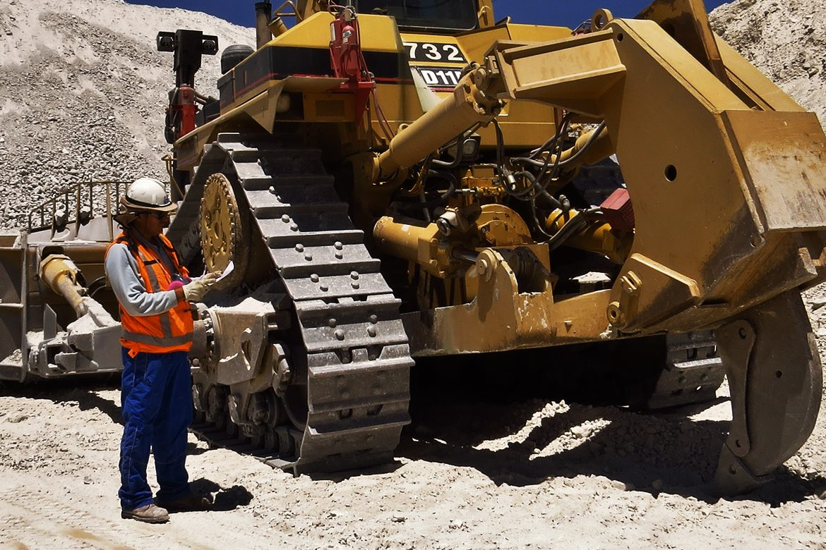 AFEX fire suppression system installed on heavy mining equipment in chile