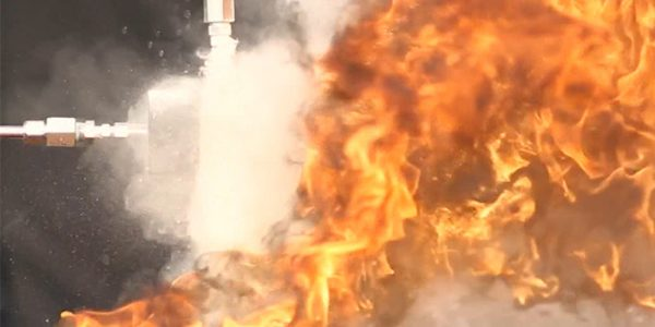 Dry chemical fire test
