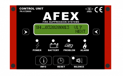 AFEX Automatic Fire Suppression System Control Unit Version 1.7