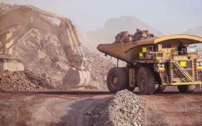 Mining Heavy Equipment with Fire Suppression