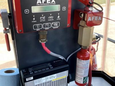 AFEX Control Unit Installation on CAT Wheel Loader for Fire Detection