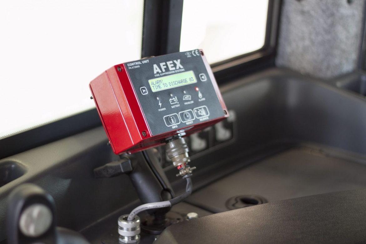 Control Unit installed on heavy duty equipment for Fire Protection