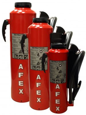 AFEX Portable Vehicle Fire Extinguisher Accessory with Side Cartridge